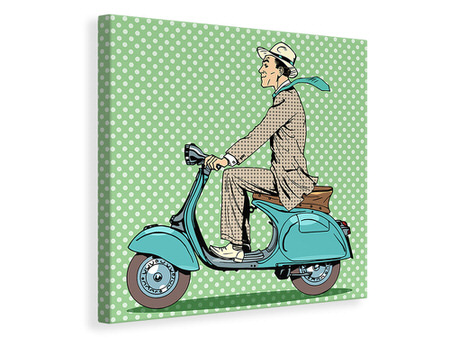 Canvas print Pop Art Vespa Driver