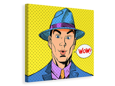 Canvas print Pop Art Wow