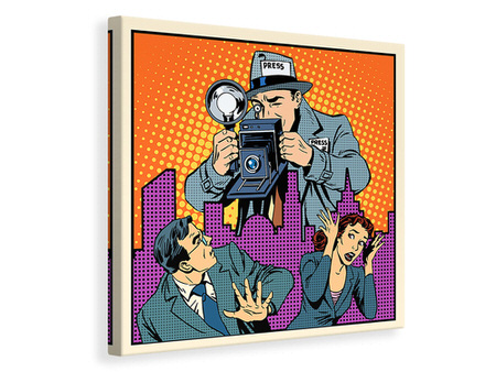 Canvas print Pop Art Paparazzi