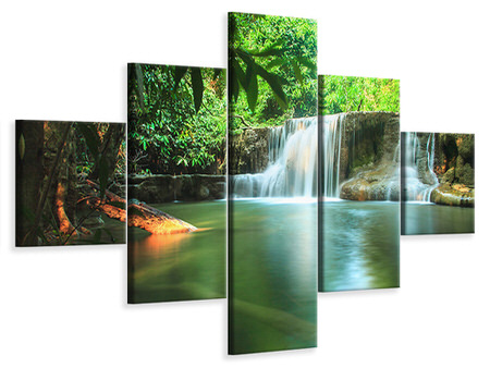 5 Piece Canvas Print Element Water