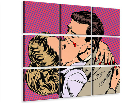9 Piece Canvas Print Pop Art Longing